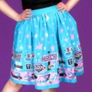 3x Vegas print petite Bella skirt pinup couture